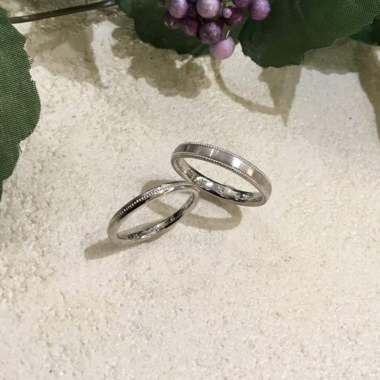 ふたりの絆を結婚指輪に・・・1つ原石からできた2ピースのダイヤモンド