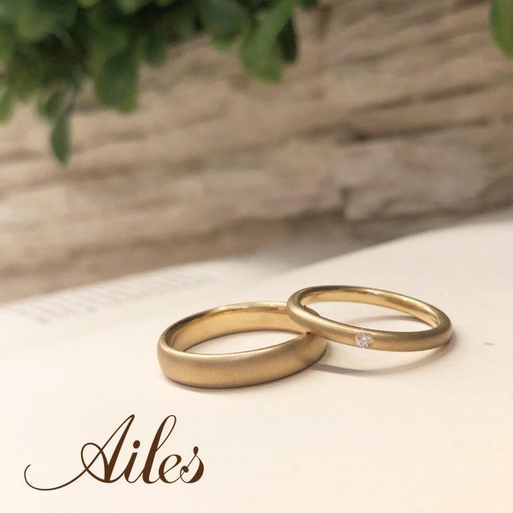 工房体験!仕上げ加工と刻印を自分達で手作り☆オーダーメイドの結婚指輪☆